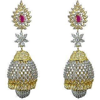JOY DURGA IMITATION JEWELLERIS AMERICAN DIAMOND, BRASS, ATTRACTIVE JHUMKI SET