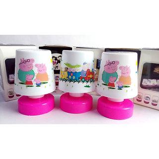 4 Pcs PEPPA PIG Relax LED Lamp Kids Room Best Birthday Return Gift
