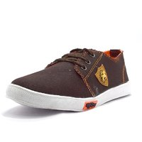Blue Pop Men Brown Lace-up Sneakers