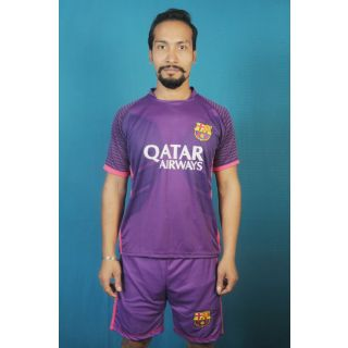 Dinnar fashion purpel barsanola football Jersey with shorts