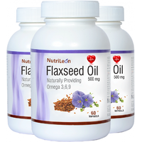 NutriLeon Flaxseed Oil 500mg 60Capsules (Pack Of 3)