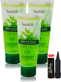 Nutriglow Neem Tulsi Face Wash (Pack Of 3)