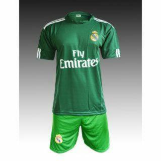 Dinnar fashion dark green football jersey with shorts