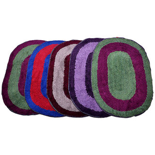 Anjani's Pack of 5 Multicolor Cotton Doormats