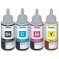 Original Epson Ink All Colors (T6641-B,T6642-C,T6643-M,T6644-Y) 70 Ml Each For L100/L110/L200/L210/L300/L350/L355/L550
