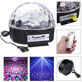 Vrct RGB LED MP3 Crystal Magic Ball Stage Effect Light DJ Club Disco Party Lighting