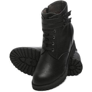 TEN Black Elegent Leather Boots