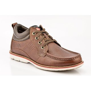 Lee Cooper Men's Brown Lace-up Casual Shoes