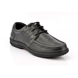 Lee Cooper Men's Black Lace-up Casual Shoes