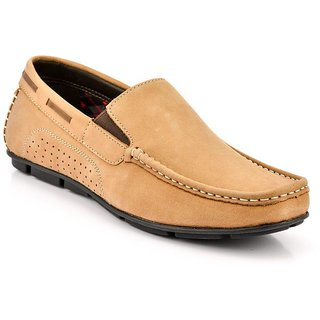 Lee Cooper Men's Brown Slip on Casual Shoes
