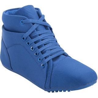 Hansx Women's Blue Smart Casuals