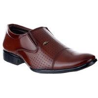 Feetzone Men Brown Slip On Formal Shoes