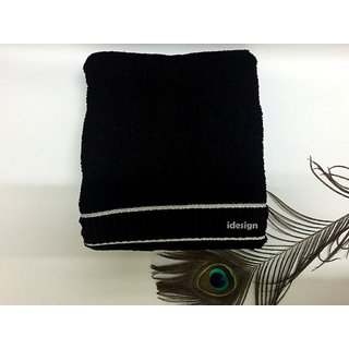iwonder Single Cotton Bath Towel Black
