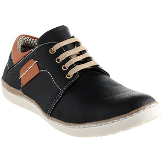 af6fb6d6d919 Buy FeetZone Men Black Lace-up Casual Shoes Online   ₹999 from ...