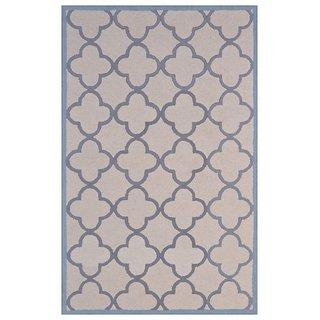 Handmade Wool Modern Ivory/ Silver 5x8 lt1394 Area Rug Carpet