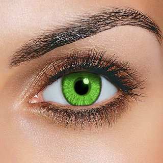 Magjons Green Color Contact Lens Pair With 80 ML Solution