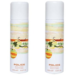 Police Sunscent Women Deodorants Of 200ml each (Pack Of 2)