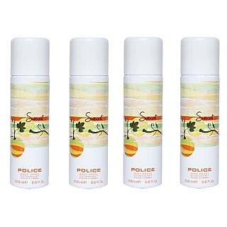 Police Sunscent Women Deodorants Of 200ml each (Set Of 4)