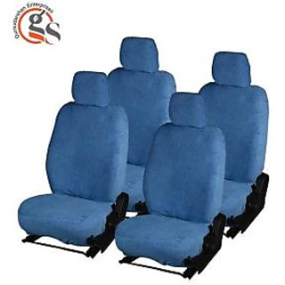GS-Fixed Front Headrest Blue Towel Car Seat Covers for Maruti Suzuki Alto 800