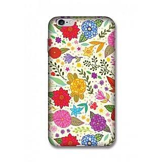 Pluginkart Flower Leaves Hard Case Cover for Apple iPhone 6 Plus