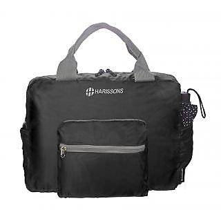 Harissons Plush Foldable Duffel Bag (Black, HBN18BLACK)