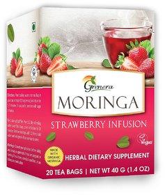 Moringa Strawberry Infusion - 20 Tea Bags / Box