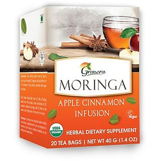 Moringa Apple Cinnamon Infusion - 20 Tea Bags / Box