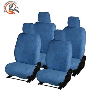 GS-Fixed Front Headrest Blue Towel Car Seat Covers for Maruti Suzuki Celerio