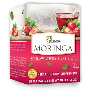 Moringa Strawberry Infusion - 20 Tea Bags / Box