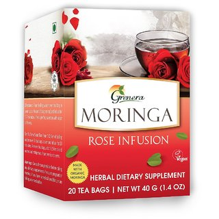 Moringa Rose Tea - 20 Tea Bags / Box