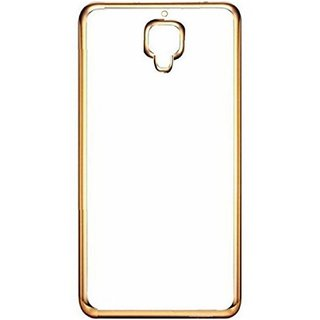 DKM Inc Soft Golden Chrome TPU Cover for Reliance Jio LYF Flame 8
