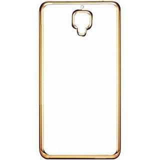 DKM Inc Soft Golden Chrome TPU Cover for Reliance Jio LYF Flame 7