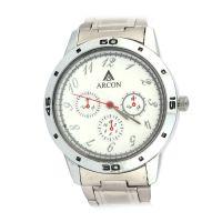 Arcon Chronograph Analog White Dial Round Shape Men's Watch