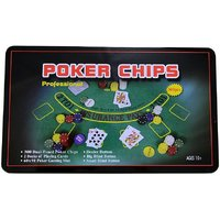Asfit 300 Pcs Poker Chips Set in Tin Case  (Green)