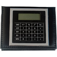 Imported MEMO PAD With Post It Slips In Faux Leather Finish With Calculator -M7