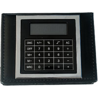 Imported MEMO PAD With Post It Slips In Faux Leather Finish With Calculator -M8