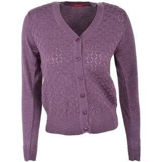 Women's/Ladies/Girl'sKnitwearAcrylicRegular fitButtonedCasualWoolenSweaterCardigan