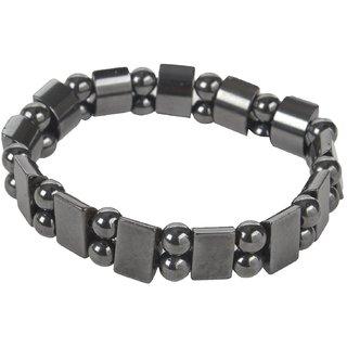 Acupressure Health Care Product Magnetic B.P. Bracelet (Free Size, Metallic)