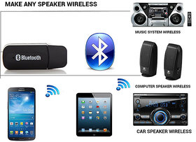 Bluetooth Receiver Music Audio Stereo Adapter Reciever Car Aux In Speaker