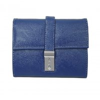 Howdy Classy Blue Leather  Wallet For Women And Girls W
