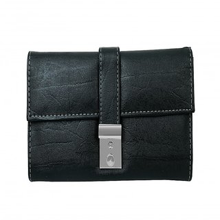 Howdy Classy Black Leather  Wallet for women and girls with card holder facility ss3114