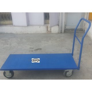 Gripon Preminum Quality Single Platform Trolley Completely Foldable with 500Kg Capacity 5 Solid wheel - Highly Durable