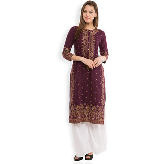 Vishudh Pink Printed Cotton Stitched Kurti