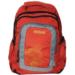 77756327773f Buy Polyester School Bag Orange Colour Online   ₹649 from ShopClues