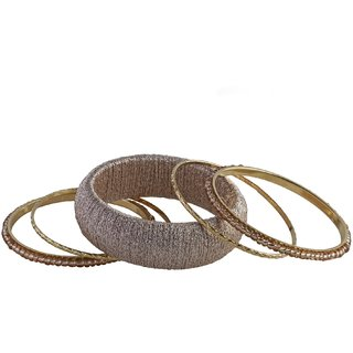 millies Non Plated Gold Acrylic Bangles for women