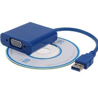 USB 3.0 To VGA HDMI Cable (Blue) -PASHAY BRAND