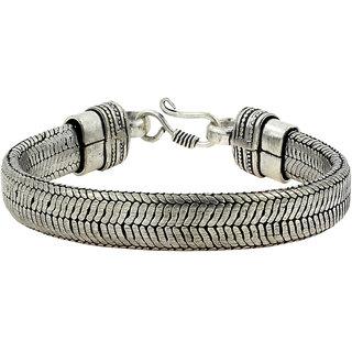 The Jewelbox Antique Vintage Oxidized Silver Bangle Bracelet For Men