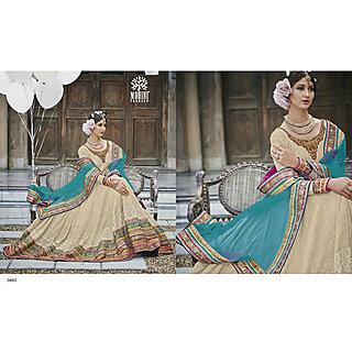 Salwar Soul Designer Beige Georgette Embroidery Dress