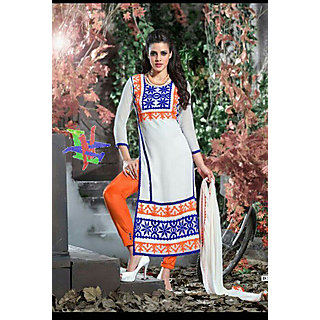 Salwar Soul Designer White Georgette Embroidery Bollywood Suits