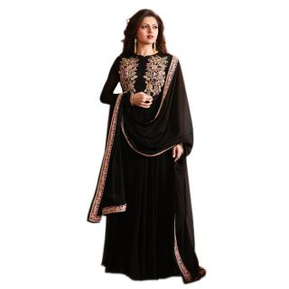 Salwar Soul BLACK COLOR LATEST INDIAN DESIGNER ANARKALI SALWAR KAMEEZ DRESS for women & girls party wear